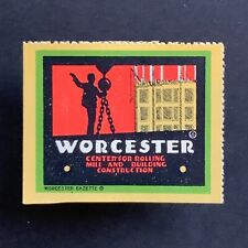 Poster Stamp * USA * 1915 Worcester Massachusetts Tourism Development