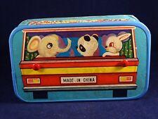 Ancien jouet musical accordéon carton enfant voiture made in china années 60