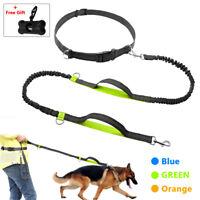 Elastic Hands Free Dog Leash Running Jogging Waist Belt & Free Gift Garbage Bag