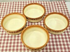 "4 Wedgwood SAHARA Oven to Table 5 1/4"" Cereal Sauce Dessert bowls MINT!"