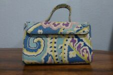 Vera Bradley Capri Blue Hard Case Travel Mini Jewelry Box