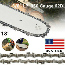 "18"" Chainsaw Saw Chain Blade Sears 3/8"" LP .050 Gauge for Poulan Craftsman 62DL"