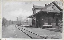 Lackawanna Station Analomink PA Vintage postcard unused nice Tracks and Depot