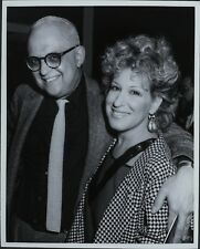 George Christy (Reporter), Bette Midler ORIGINAL PHOTO HOLLYWOOD Candid 2651