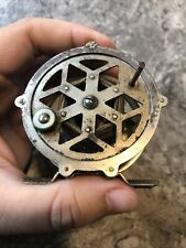 Vintage Fly Fishing Reel works Great Decor Snowflake Style Design replaced handl