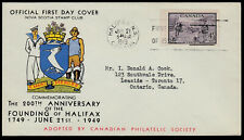 FIRST DAY COVER - 1949 - UNITRADE #283 - HALIFAX BICENTENARY - ⭐GREAT CACHET !!⭐