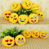 New UK Emoji Emotion Yellow Round Cushion Stuffed Pillow Plush Soft Toys Decor