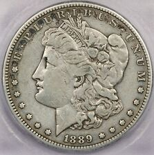 1889-CC 1889 Morgan Silver Dollar S$1 ICG VF20