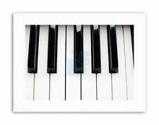 PIANO KEYS BLACK WHITE CLOSEUP MUSIC PHOTO Poster Picture Music Canvas art