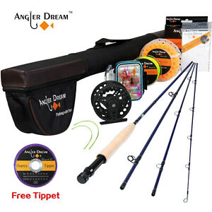 9' 8WT Fly Fishing Rod & Aluminum 7/8WT Fly Reel & WF 8F Fly Fishing Line Combo