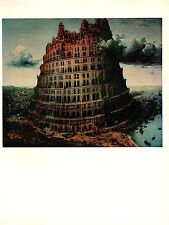"1969 Vintage BRUEGEL ""THE TOWER OF BABEL (ll) #2 COLOR offset Lithograph"