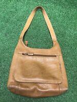TIGNANELLO Signature Brown Leather Satchel Tote Purse Shoulder Bag Handbag