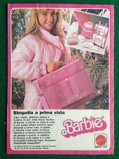 VV92 Pubblicità Advertising Clipping 19x13 cm (70s) BARBIE SACCA VERNICE MATTEL