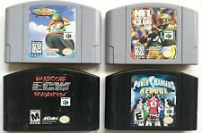 NINTENDO 64 LOT OF 4 SPORTS GAMES~ WAVE RACE / POWER RANGERS / NFL QUATERBACKS +