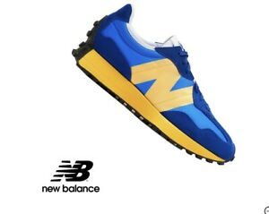 DS MENS NEW BALANCE 327 MS327CLB BLUE YELLOW RUNNING SHOES SZ 10 Authentic