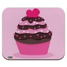Strawberry Chocolate Cupcake Love Heart Low Profile Thin Mouse Pad Mousepad