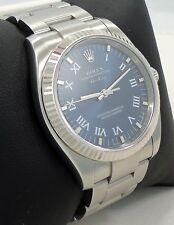 Rolex Air-King 114234 18K White Gold Bezel Blue Dial Oyster Steel *BRAND NEW*