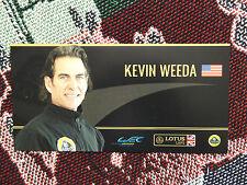 2012 LOTUS LMP2 WEC DRIVER INFO CARD - KEVIN WEEDA