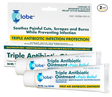 Triple Antibiotic + Pain Relief (Compare to Neosporin) 1 Oz - 2 Tubes