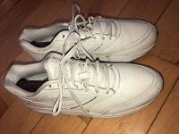 Brooks Mens Addiction Walker 2 Walking Shoes White Lace Up 11 B