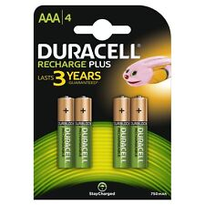 4 x DURACELL750Mah NiMH RECHARGEABLE BATTERIES AAA LR03 MN2400 HR03 MX2400 24A