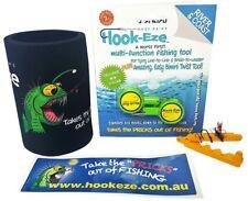 Hook Eze Knot tying tool fishing  + Cooler & Hook Threader Quick Safe Tie
