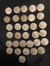 32 US 40% Silver Coins Liberty Kennedy Half Dollars 1965 -1969