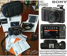 Sony Cyber-shot Digital Compact Camera DSC-HX60 + Lowepro bag + 2GB Memory Card