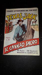 "Texas Jack #2 ""Il Cavallo Sacro"" 1950 supplemento Albi Grandi Avventure Nerbini"