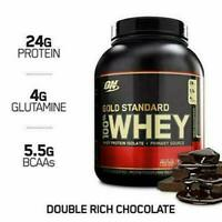 Optimum Nutrition Whey GOLD Standard 100%, Double Rich Chocolate 5lbs/74 Serv