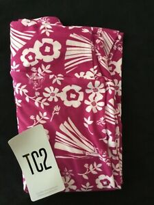 LuLaRoe TC2 Disney Princesses Flower Pink Magenta Leggings