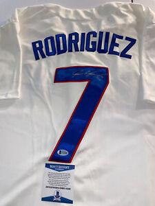 🔥Ivan Rodriguez Signed Texas Rangers Jersey🔥 Beckett Cert