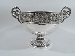 Victorian Bowl - Antique Centerpiece - English Sterling Silver - Elkington 1896