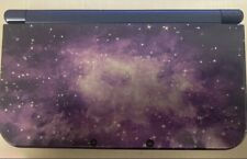 Nintendo 3DS XL Galaxy Style Purple Handheld Console Very Good Used. + 10 Games