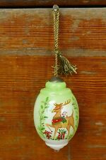 Ne'Qwa Reindeer Christmas Ornament Glass Hand Blown Painted Susan Winget Artist