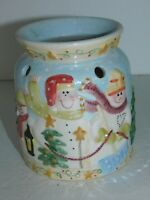 Yankee Candle Wax Warmer Snowman Christmas Winter Holiday Decor Tart Burner
