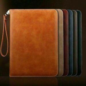 Genuine Luxury Leather Smart Case Cover for iPad 9.7 10.2 10.5 11 Pro Mini 5 4 3
