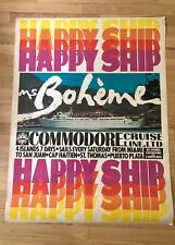 Cruise Ship Poster Ms Boheme Vintage Ultra Rare Travel Advertisement