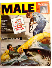 Male Magazine March 1955 Vintage Men's Pulp Adventure Stag Mag Shooting Sharks
