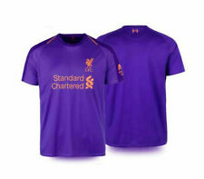 100% Official License 2019 LFC Liverpool FC Supporter Jersey Shirt Purple Away