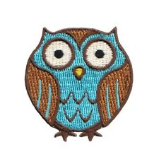 Cute Forest Owl Patch Give a Hoot Nocturnal Craft Embroidered Iron On Applique