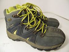 MERRELL REACTOR WATERPROOF MID NAVY YELLOW BOOTS SHOES YOUTH SZ 5 / 36