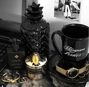 Pineapple Scented Candle Collection Black
