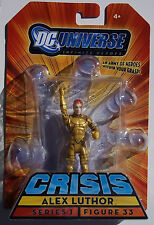 DC UNIVERSE INFINITE HEROES CRISIS. ALEX LUTHOR. MINI ACTION FIGURE. NEW ON CARD