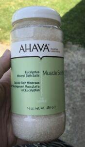 AHAVA Dead Sea Mineral Bath Salts Muscle Soothing Eucalyptus, 16 oz.