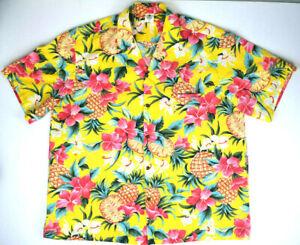VTG Royal Creations Hawaiian Shirt XXL 70s Pink Hawaii Kurt Cobain Aloha Grunge