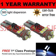 2x W5W T10 501 Canbus Libre De Errores BLANCO 9 SMD