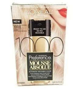 L'Oreal Paris Mousse 1000 Pure Lightest Blonde 3.2 Oz Permanent Color