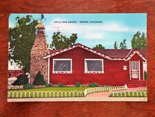 1950s Apple Tree Shanty Restaurant Denver Colorado CO Roadside Postcard Posted