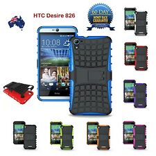 TPU + Silicone Shockproof Heavy Duty Kickstand Case Cover for HTC Desire 826